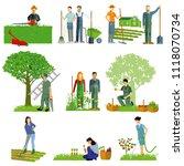 gardening. garden tools  garden ... | Shutterstock .eps vector #1118070734