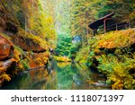 the kamnitz gorge in saxon... | Shutterstock . vector #1118071397