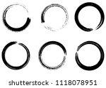 grunge vector circles. brush... | Shutterstock .eps vector #1118078951