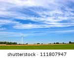 Meadow With Wind Turbines...