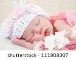 Newborn Girl Sleeps With...