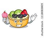 with ice cream fruit tart... | Shutterstock .eps vector #1118083805