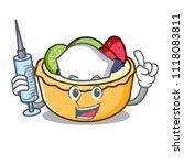 nurse fruit tart character... | Shutterstock .eps vector #1118083811