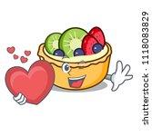 with heart fruit tart mascot... | Shutterstock .eps vector #1118083829