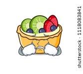 crying fruit tart mascot cartoon | Shutterstock .eps vector #1118083841
