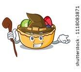 witch fruit tart mascot cartoon | Shutterstock .eps vector #1118083871