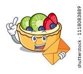 with envelope fruit tart... | Shutterstock .eps vector #1118083889