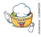 chef fruit tart character... | Shutterstock .eps vector #1118084339