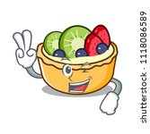two finger fruit tart character ... | Shutterstock .eps vector #1118086589