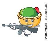 army fruit tart character... | Shutterstock .eps vector #1118086601