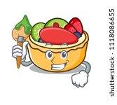 artist fruit tart character... | Shutterstock .eps vector #1118086655