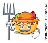 farmer fruit tart character... | Shutterstock .eps vector #1118086661