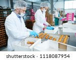 confectionery factory employees ... | Shutterstock . vector #1118087954