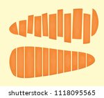 carrot slice. food healthy and... | Shutterstock .eps vector #1118095565