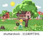 vector illustration happy child ... | Shutterstock .eps vector #1118097341