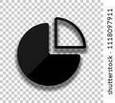 business pie chart icon. black...