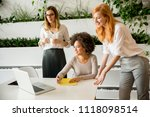 cheerful professional... | Shutterstock . vector #1118098514