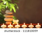 stack of zen stones and... | Shutterstock . vector #111810059