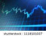 stock trade live.  stock market ... | Shutterstock . vector #1118101037