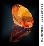 citrine gem stone isolated on... | Shutterstock . vector #1118104961