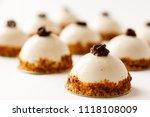 mousse dessert with vanilla... | Shutterstock . vector #1118108009