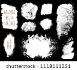 set of ink vector stains.... | Shutterstock .eps vector #1118111231