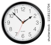 classic round wall clock with... | Shutterstock .eps vector #1118112704