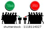 voters crowd silhouette by... | Shutterstock .eps vector #1118114027
