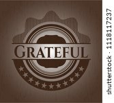 grateful wooden emblem. retro | Shutterstock .eps vector #1118117237