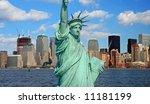 the lower manhattan skyline... | Shutterstock . vector #11181199