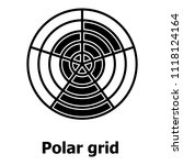 polar grid icon. simple... | Shutterstock . vector #1118124164