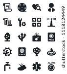 set of vector isolated black... | Shutterstock .eps vector #1118124449