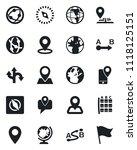 set of vector isolated black... | Shutterstock .eps vector #1118125151