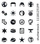 set of vector isolated black... | Shutterstock .eps vector #1118125199