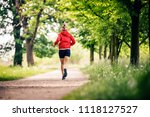 running woman  enjoying summer... | Shutterstock . vector #1118127527