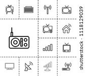 antenna icon. collection of 13...   Shutterstock .eps vector #1118129039