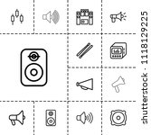 loud icon. collection of 13... | Shutterstock .eps vector #1118129225