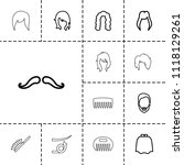hairstyle icon. collection of... | Shutterstock .eps vector #1118129261
