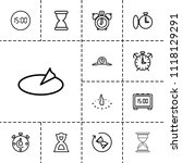 minute icon. collection of 13... | Shutterstock .eps vector #1118129291