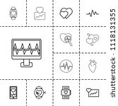 heartbeat icon. collection of... | Shutterstock .eps vector #1118131355