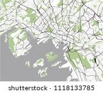 vector map of the city of oslo  ... | Shutterstock .eps vector #1118133785