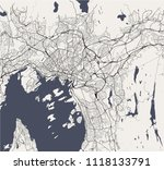 vector map of the city of oslo  ... | Shutterstock .eps vector #1118133791