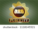 gold badge or emblem with... | Shutterstock .eps vector #1118145521