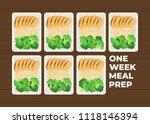 vector illustration of meal... | Shutterstock .eps vector #1118146394
