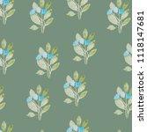 pattern  watercolor flowers ... | Shutterstock . vector #1118147681