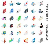 computer screen icons set.... | Shutterstock . vector #1118151167