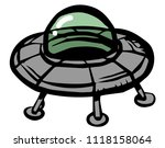 flying saucer icon | Shutterstock .eps vector #1118158064