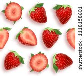 strawberry seamless pattern... | Shutterstock .eps vector #1118158601