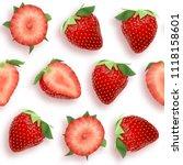 strawberry seamless pattern...   Shutterstock .eps vector #1118158601
