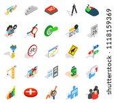 determination icons set.... | Shutterstock . vector #1118159369